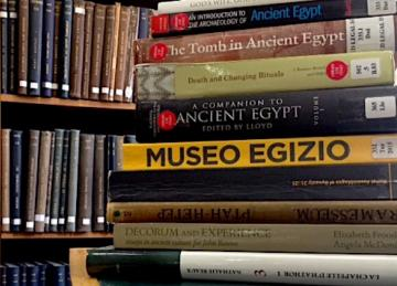 Some of the books featured in the OEB that are available in the Sackler Library