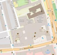 Map showing the location of the Faculty